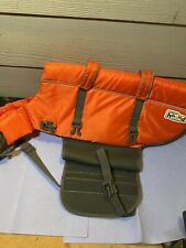 OUTWARD HOUND Raise The Woof Dog Life Jacket Orange Grey Ripstop One Size