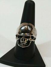 Halloween Skull Biker Motorcycle Helmet Novelty Ring Size 9 Metal