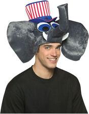 Morris Costumes Patriotic Top Hat Attached Plush Elephant Head One Size. GC6026