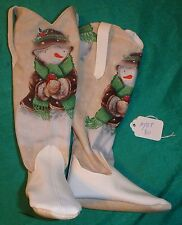 "White Cowboy Boots with Large Snowmen for 36"" My Size Barbie Doll MYBT80"