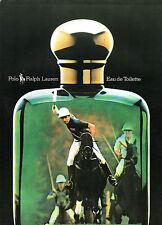 Publicité Advertising 1986  Parfum POLO de RALPH LAUREN eau de toilette