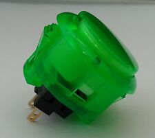 Japan Sanwa Clear Green Buttons x 1 pc OBSC-30-CG Video Arcade Parts