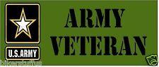 ARMY VETERAN BUMPER STICKER VET U.S.ARMY LRG LAPTOP STICKER TOOLBOX STICKER