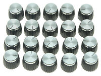 20x Guitar AMP Amplifier Knobs Black w/ Silver Cap Push on Knob fits Marshall
