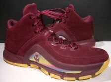 ADIDAS J WALL 2.0 BOOST MAROON SUEDE LEATHER MID BASKETBALL SHOES 14M B39529 GUC