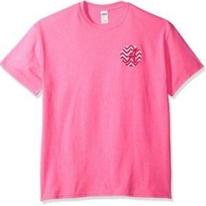 NCAA Alabama Crimson Tide Adult Pink Glitter Chevron Crew GILDAN T-Shirt Medium