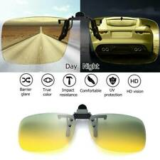 Day Night Vision Polarized 100% UV400 Sunglasses Clip On Anti-Glare Driving HOT