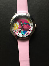 Kid's Trolls Analogue Silicone (Light Pink) Band wrist watch BRAND NEW