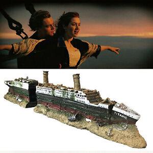Acquario Titanic Shipwreck Decorations - Resin Material Ship Ornament