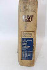 CAT CATERPILLAR SERVICE SHOP REPAIR BOOK MANUAL VOLUME 1