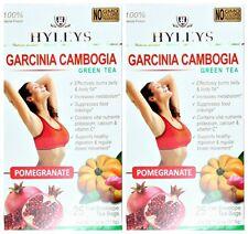 2 PACK OF Hyleys 100% Natural Slim Green Tea Garcinia Cambogia and Pomegranate