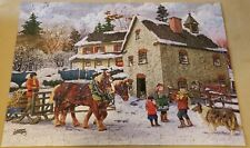 """Bits and Pieces 300 Large Pieces Puzzle WINTER CHORES by J Burgess 18"""" × 24"""""""