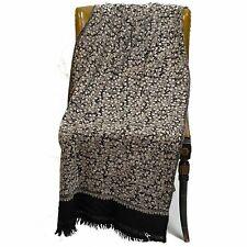 Vintage Black Embroidered Shawl