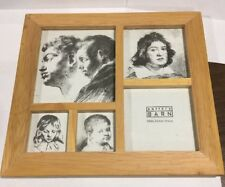 "Pottery Barn Wood Multi Picture Frame 9"" X 8"""