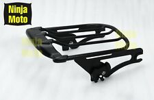 Black Tour Pak Pack 2-UP Air Wing Luggage Rack For Harley Touring Models 09-2017