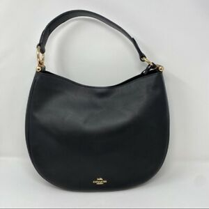 Coach Black Hobo Half Moon Tote Leather Bag Shoulder Bag