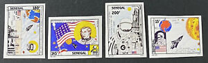 SENEGAL Space 1036 - 1039 Beautiful Mint NEVER Hinged IMPERF Set  UPTOWN