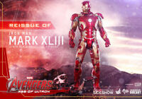 Hot Toys Age of Ultron DIECAST Iron Man Mark 43 XLIII 1/6 Figure Double Box