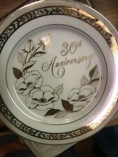 "Vint. George Good - 30th Anniversary Plate ""Anniversary Rose"""