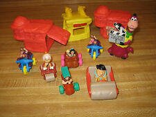 LOT 10 Figurines KIDS MEAL  Flintstone  Mc Donalds