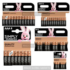 DURACELL SIMPLY QUALITY GUARANTEED AA & AAA ALKALINE BATTERIES EXPIRY - 2024