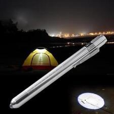 MINI Flashlight Medical First Aid LED Pen Light Doctor Nurse Emergency Silver GA