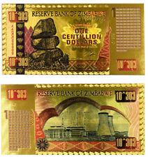 "★★ ZIMBABWE : BILLET POLYMER  "" OR "" DU 1 CENTILLION DOLLARS  ★★"