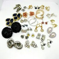 Job Lot Of Vintage Earrings. Costume Jewellery. 26 Pairs.
