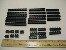 30 Lego Studded Beams With Holes. Technic Mindstorms NXT Robotics Bricks Black