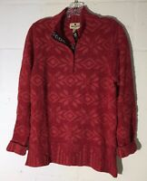 Woolrich Vintage Sz M Ruby Sweater Pullover Winter Christmas Red Poinsettia