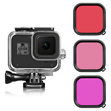 For GoPro Hero 8 Black Waterproof Diving Protective Housing Case Filters