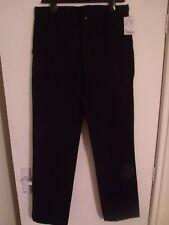"""CERRUTI 188 Men's Black 4-Pocket Straight Leg Chinos W30"""" L33"""" rrp £105 BNWT"""
