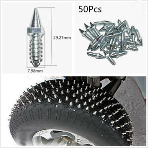 50 X High Quality Steel Winter Car Truck Tire Anti-Slip Screw Stud Screws Silver