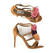 2e2729bb3d8 Steve Madden Womens Savanna Ankle Strap Sandals Size 9 M Suede Strappy Heels