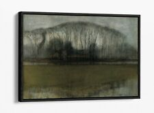 PIET MONDRIAN, LINE OF TREES IN MARSHY -FLOAT EFFECT CANVAS WALL ART PIC PRINT-