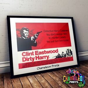 Dirty Harry Movie Poster In A3 A4 Clint Eastwood 1971