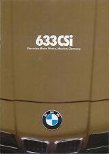 BMW 6-Series 1979-80 Original USA Sales Brochure 633 CSi Pub. No. 9 11 06 04 25