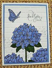 Stampin Up Handmade LOVE YA MUCH Greeting CARD KIT Hydrangea Flowers