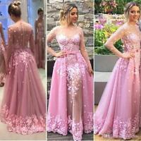 Vintage Long Formal Evening Dress Celebrity Cocktail Party Prom Wedding Gown