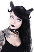 Restyle Large Black Sinister Ram Horns Gothic Hair Headpiece Headband
