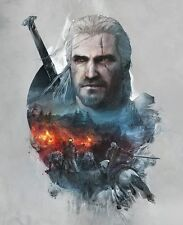 POSTER THE WITCHER 2 3 WILD HUNT WOLF LUPO GERALT OF RIVIA VIDEOGAME FANTASY #6