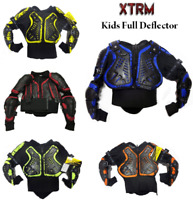 Kids Dirt Quad Bike Mx Body Armour Off Road Chest Spine Protection Jackets Camo