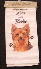 Yorkshire Terrier Yorkie Dog Breed Cotton Kitchen Dish Towel
