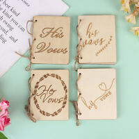 2PCS Wedding Vow Books Wedding Vow Notebook Creative Sturdy Kraft Paper Handb Kn