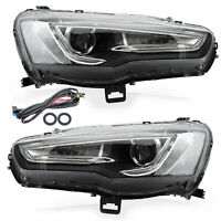 Upgraded SPRAY LACQUER LED Projector Headlights w/ Sequential for 08-2017 Lancer