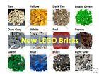 NEW 💥 50/100 pcs Lego Bulk Lot Pack, Sorted by Color! Bricks Block Plate BONUS