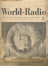 World radio magazines from Jan. 1936-1938 with stampsarticles about Fleming,Herz
