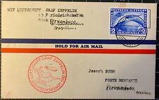 South American Graf Zeppelin Flight Postcard C38 to Pernambuco by Luftschiff 193