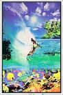 "Surf Reef Laminated Blacklight Poster - 23.5"" x 35.5"""