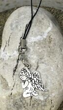 GUARDIAN ANGEL  mobile phone dangle charm, zipper, bag Charm,purse charm  GIFT